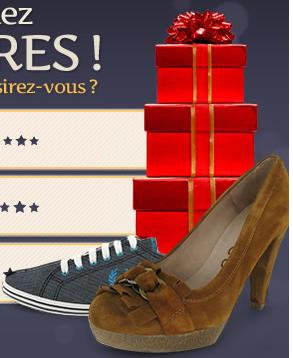 Chaussures en guise de cadeau