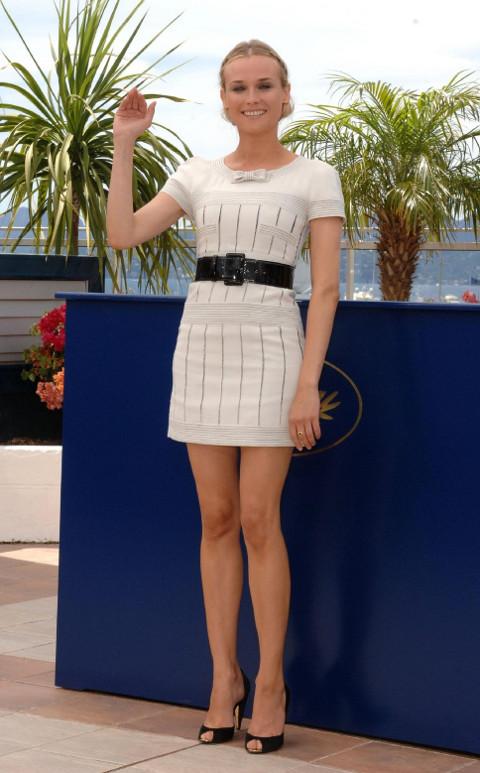 Diane Kruger en robe ceinturée