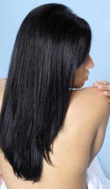 cheveux lissés grace au kit de lissage bresilien